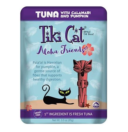 Tiki Cat - Aloha Friends Tuna with Calamari and Pumpkin - 3 oz