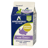 Answers - Detailed Turkey - Raw Dog Food - Various Sizes (Hillsborough County FL Delivery Only)