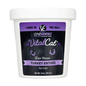 Vital Essentials Cat - Turkey Tub - Raw Cat Food - 14oz (Hillsborough County FL Delivery Only)
