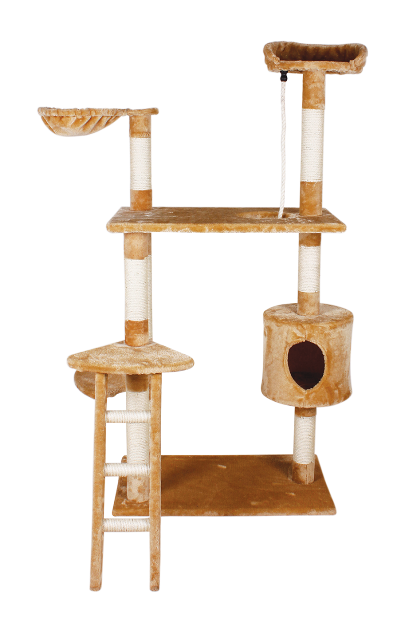Mueble Fancy Pets Para Gato con Casa y Escalera 158cm