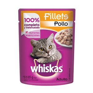 Alimento Whiskas Adulto Sobre Filetes Pollo 85g