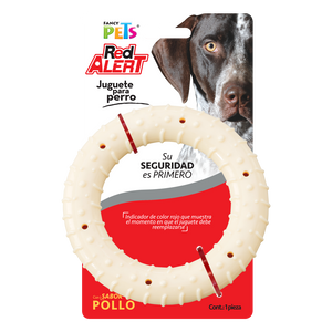 Juguete Fancy Pets Red Alert Aro Sabor Pollo