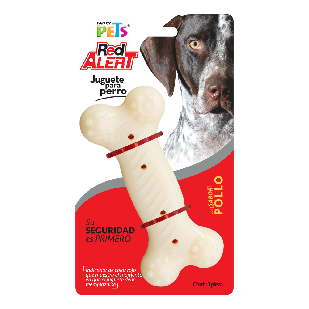 Juguete Fancy Pets Red Alert Hueso Sabor Pollo