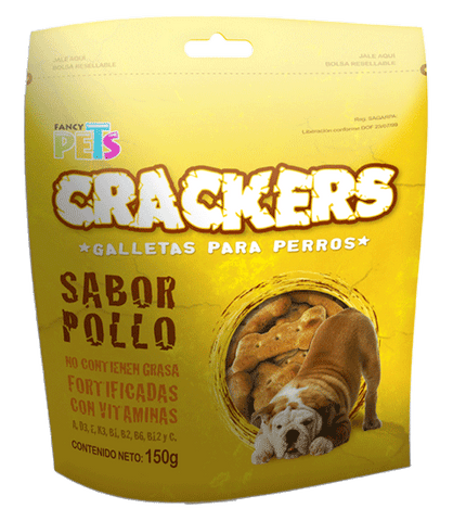 Galletas Fancy Pets Crackers Sabor Pollo 150g