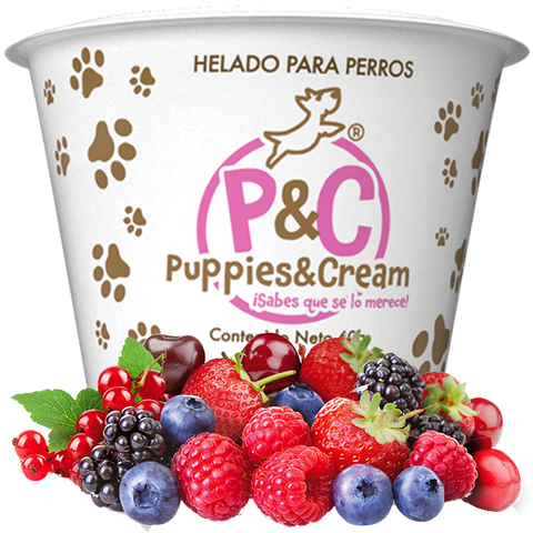 Helado Puppies&Cream Frutos Rojos