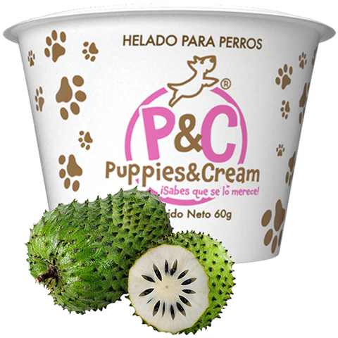 Helado Puppies&Cream Guanábana