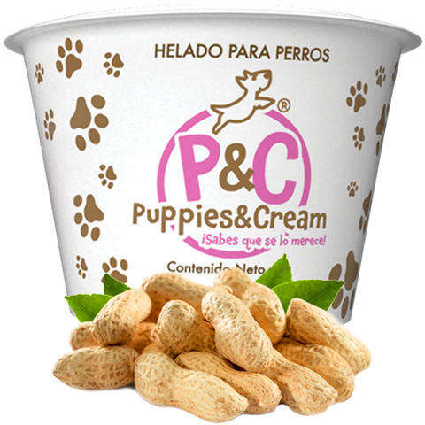Helado Puppies&Cream Mantequilla de Cacahuate
