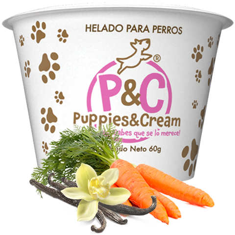 Helado Puppies&Cream Zanahoria y Vainilla