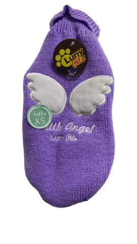 Suéter Luny Pet's Little Angel Morado