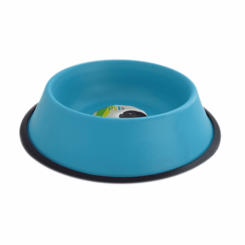 Plato color azul para perro de 24 oz Fancy Pets