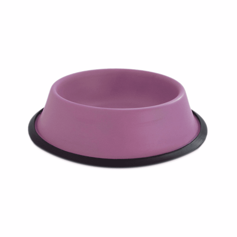Plato color morado para perro de 16 oz Fancy Pets