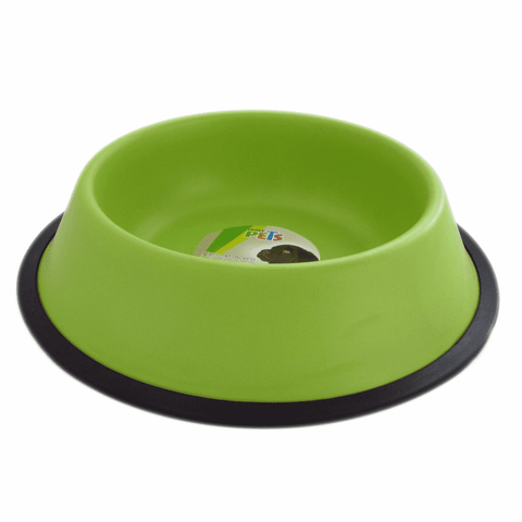 Plato color verde para perro de 32 oz Fancy Pets