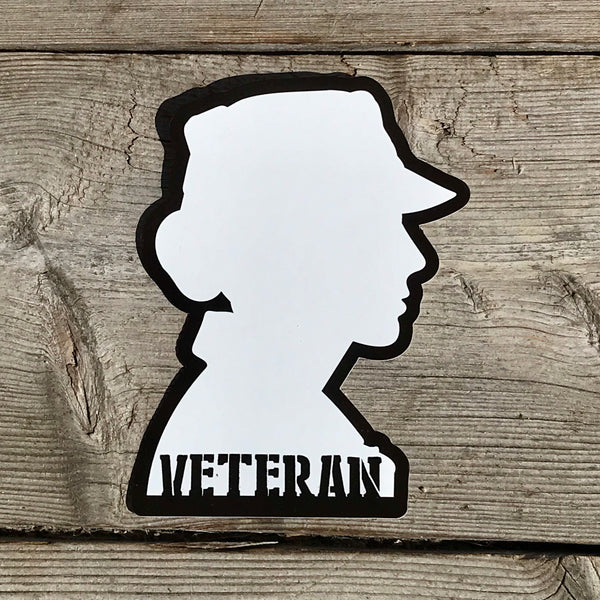 Opaque VETERAN Static Cling