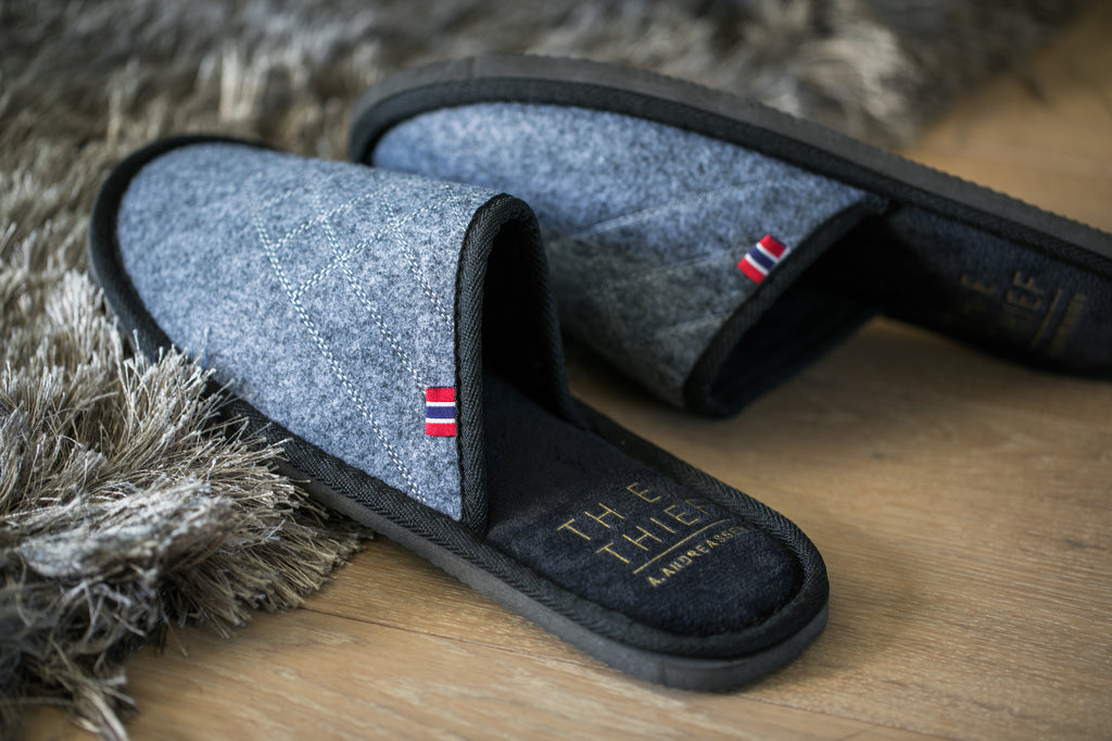 THE THIEF x A. Andreassen slippers in the hotel