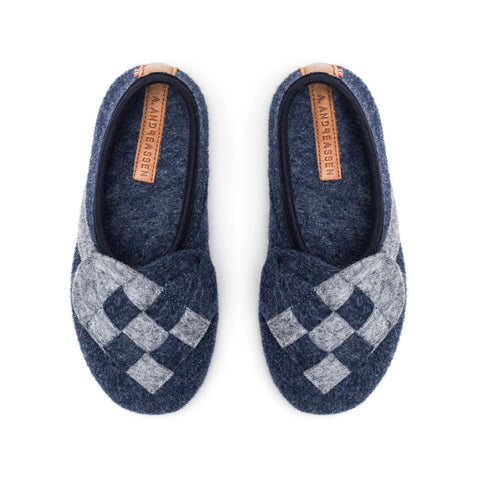 Lille Elskling girls Felt Slipper Blue