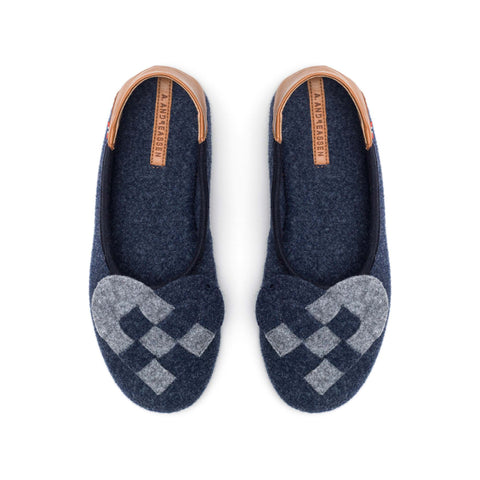 Elskling Slipper Blue/Grey Felt