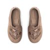 Lille Elskling girls leather slipper taupe/rose gold