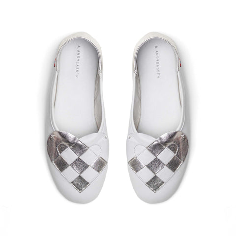 Elskling | White Leather Slippers