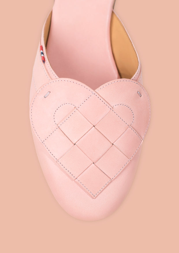 Elskling Mule | Leather  |Blush