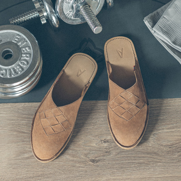 Henrik | Men's Slipper | Leather | Tobacco