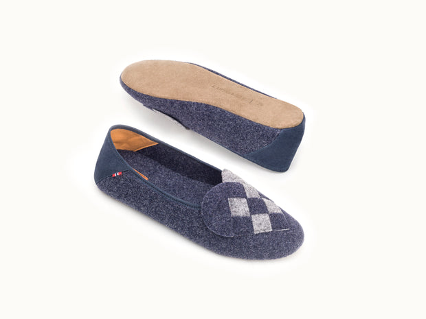 Elskling Slipper | Felt | Navy