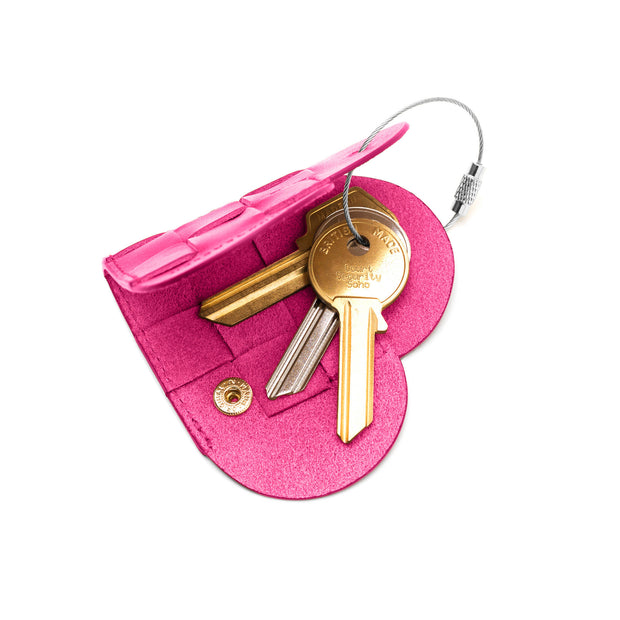 Elskling Leather Key Ring | Hot Pink