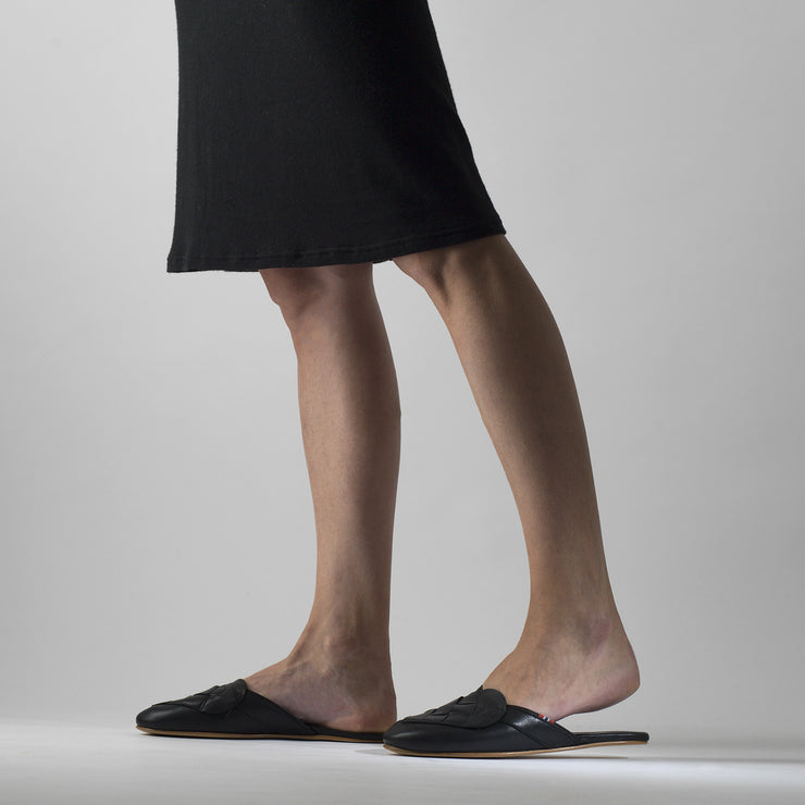 Elskling Leather Mules | Black