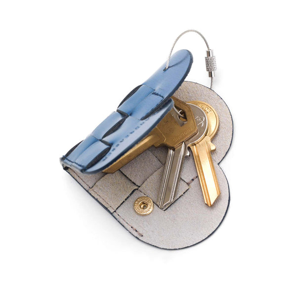 Elskling Leather Key Ring | Metallic Blue