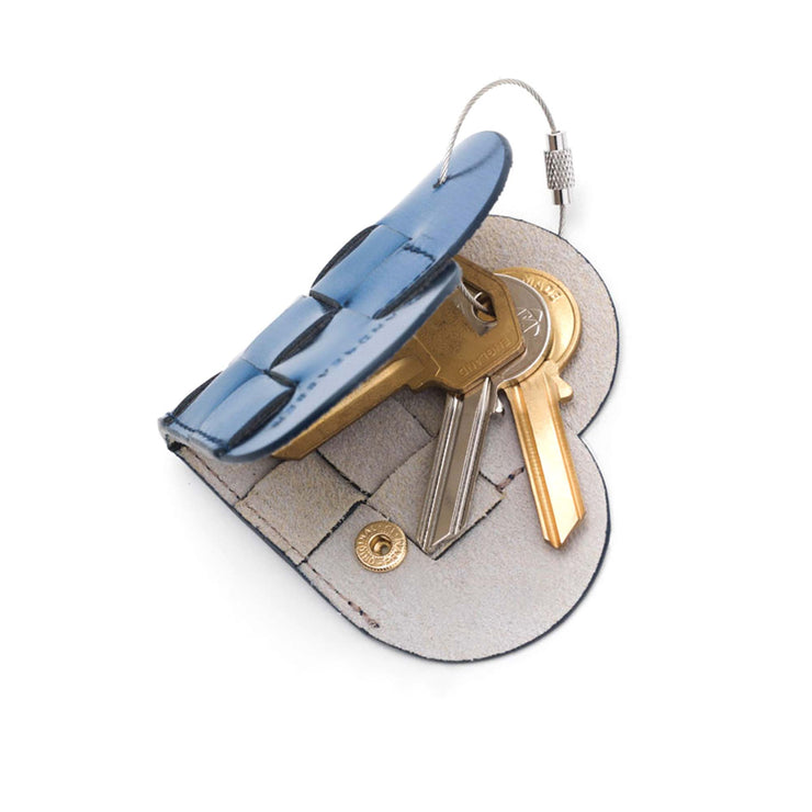Elskling Key Ring | Leather | Sapphire