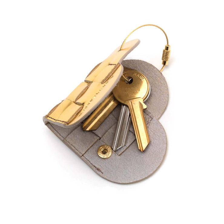 Elskling Key Ring | Leather | Gold