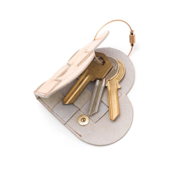 Elskling Leather Key Ring | Rose Gold