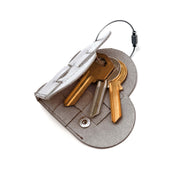 Elskling Key Ring | Leather | Metallic Silver