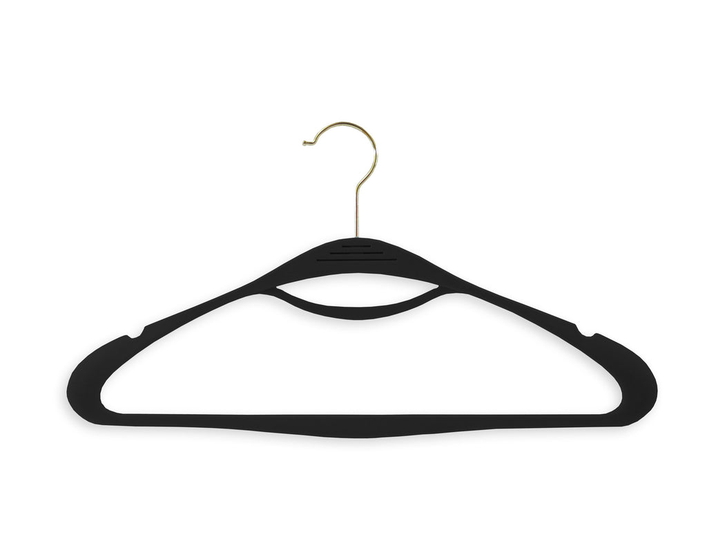 Onyx Black Couture Hangers - Set of 8
