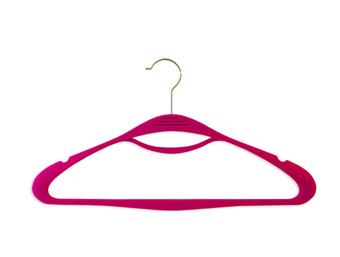 Lipstick Pink Couture Hangers - Set of 8