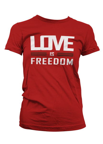 Throwback Red - Love is Freedom - Ladies