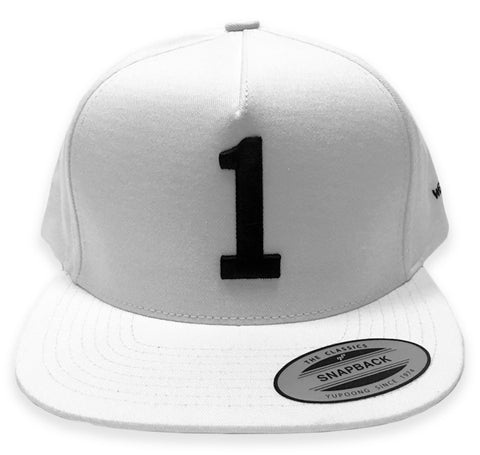 Summer White Classic Flat Billed Snap Back Hat - #1