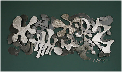 Abstract wall sculptures
