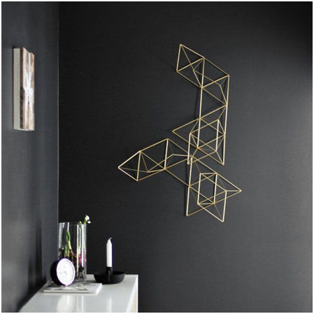 Geometrics wall sculpture