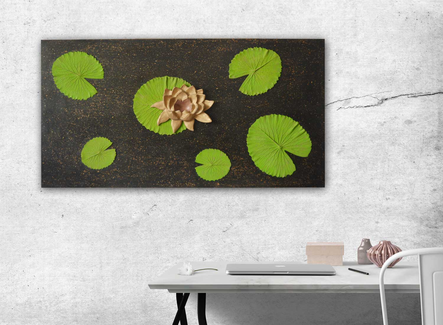 Lotus Wall Decor | Lotus Pond Wall Art | Greymode