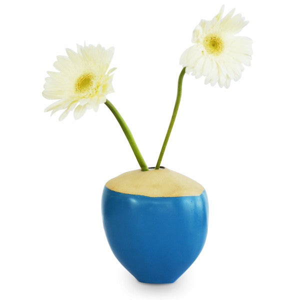 Unique Blue Coconut Vase | Greymode