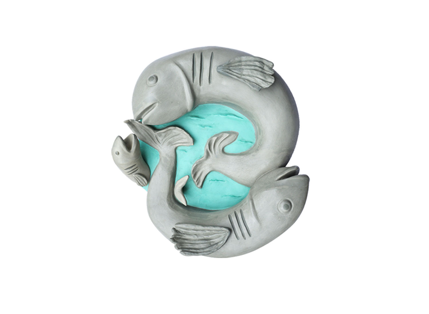 Fish Wall Sculpture | Grey & Aqua Green | Greymode
