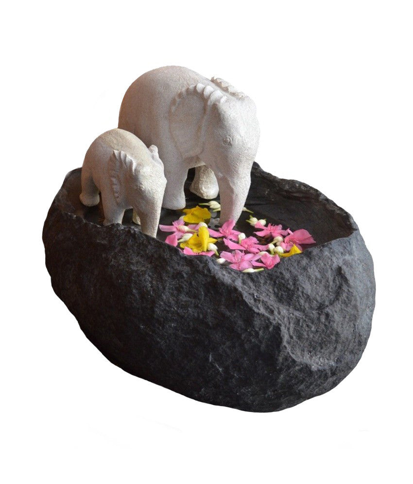 Decorative stone uruli | Elephant Uruli