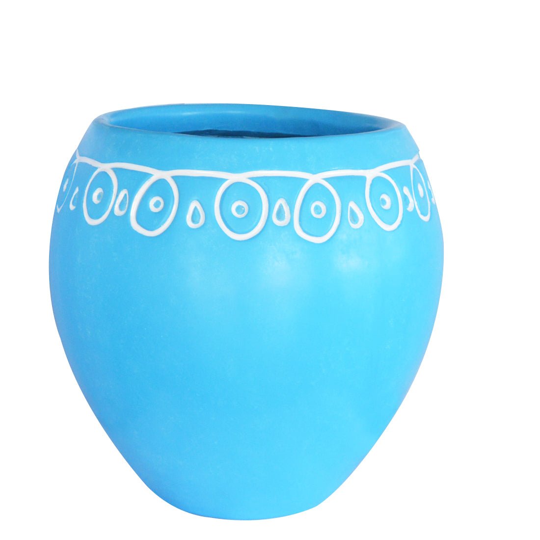 Decorative kolam designed planter pots