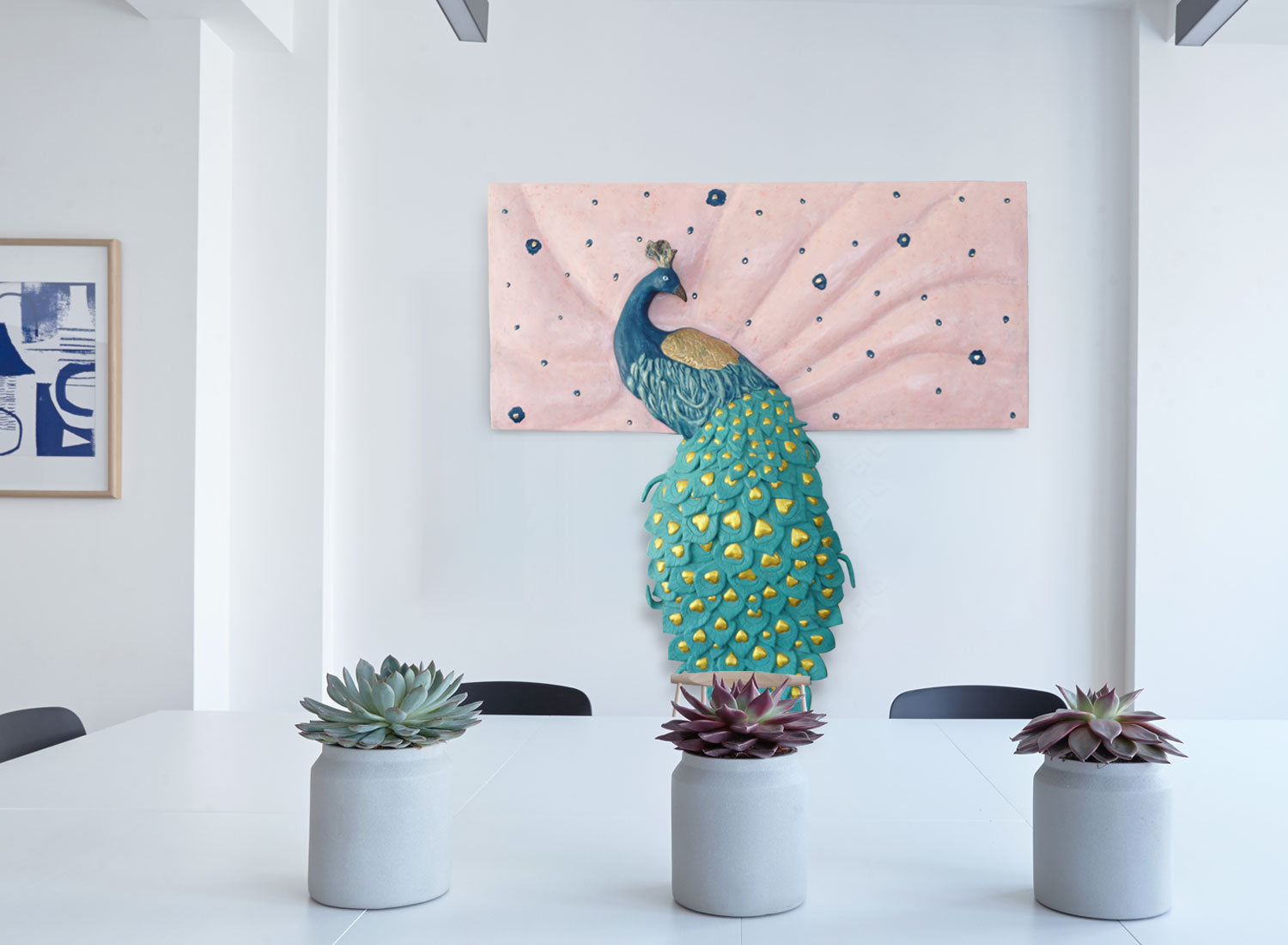 Peacock Wall Sculpture | Mayil Wall Decor | Greymode