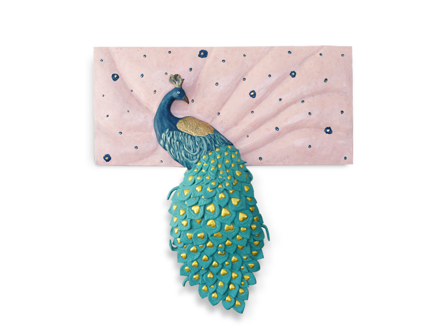 Buy Peacock Wall Sculpture Online | Wall Decor | Greymode
