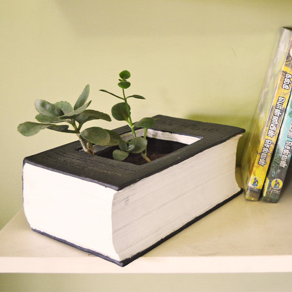 Book designed Table Planter pot