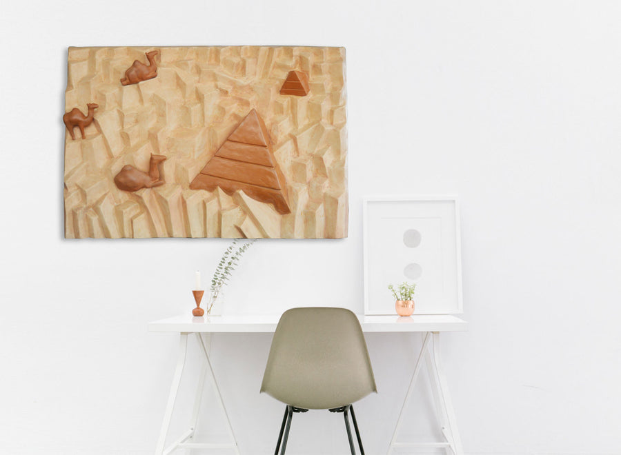 Buy Pyramid and Camel Wall Decor Online | Greymode