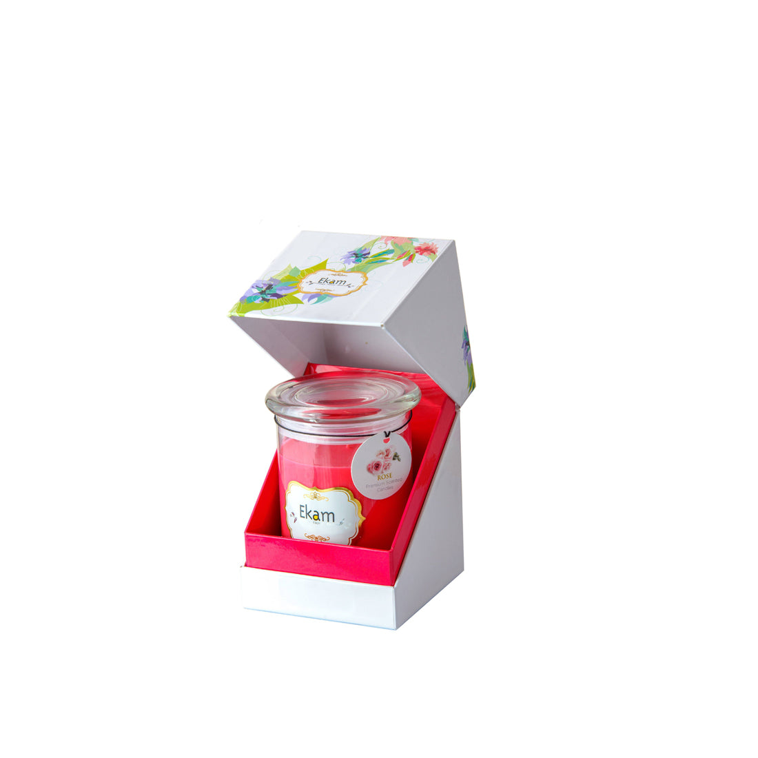 Ekam Jar Candle | Rose Fragrance Candle