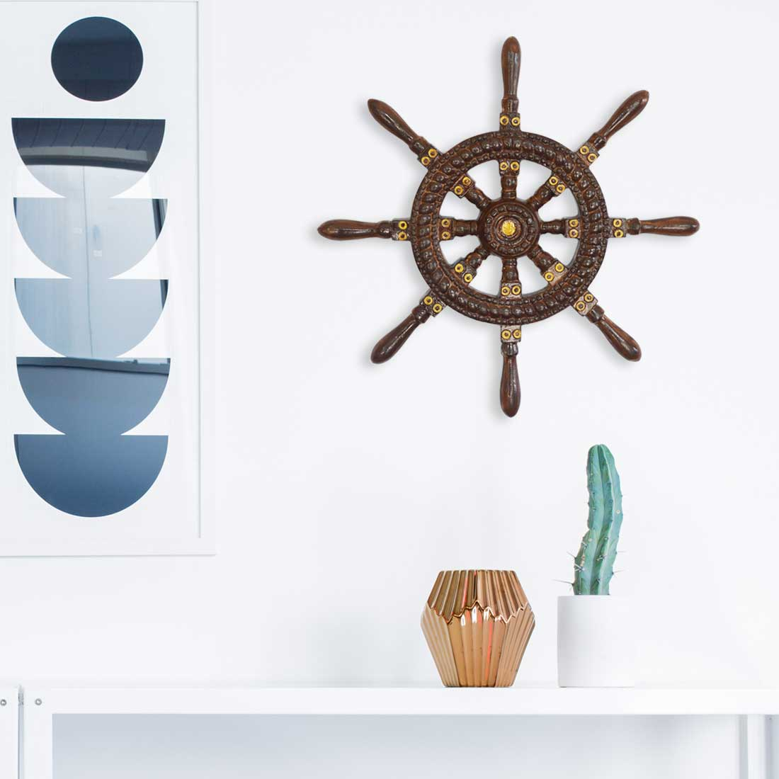Ship Steering Wheel | Nautical Wheel Wall Decor