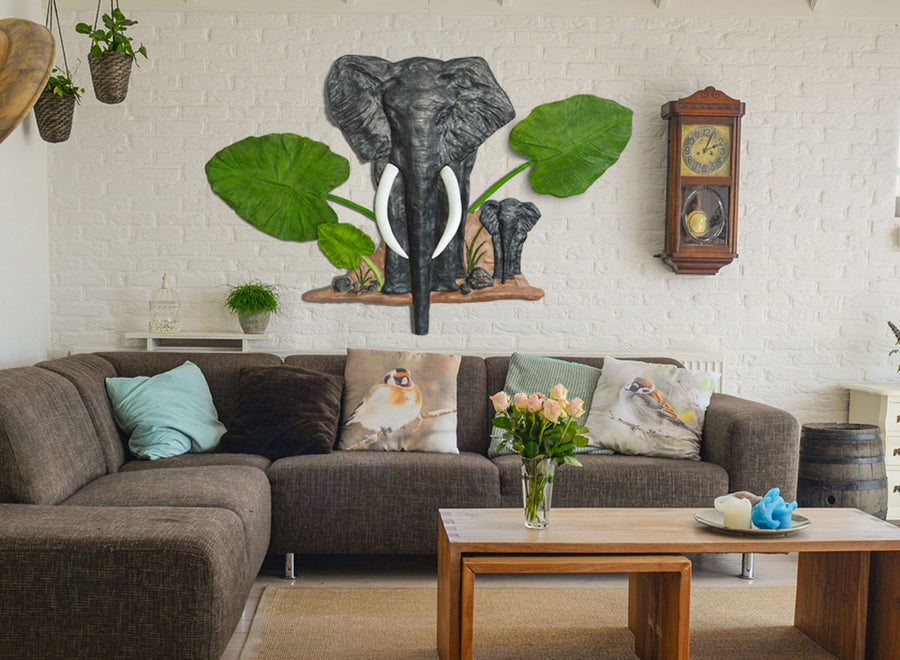 Majestic Elephant Wall Sculpture | Greymode